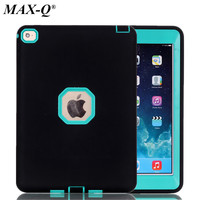 For IPad Air 2 New 3 In 1 Military Shockproof Heavy Duty Stand Case Cover PC