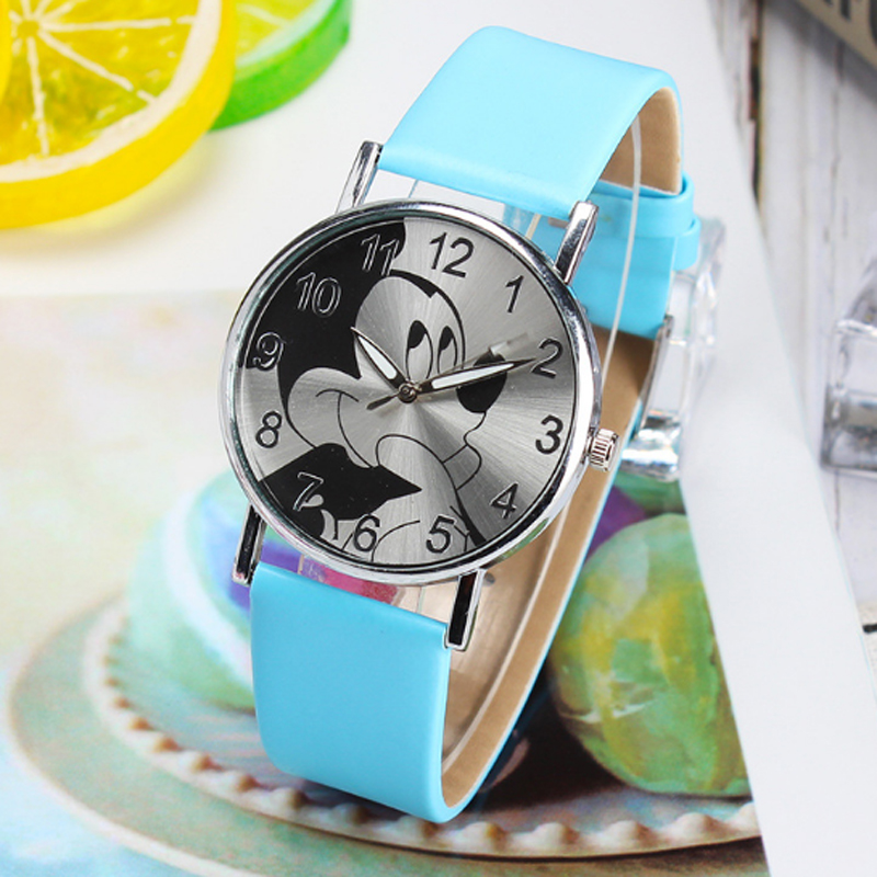 Cartoon Children's Watches Digital Watch Girls Boys Fashion Quartz Wrist Watches Children Kids Watch Clock Princess MickeyMouse