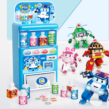 2019 NEW Robocar Poli Korea kids Toys Vending Machine Toy Pretend Play Simulation Shopping Coin-operated Toys For Children Gift цена 2017