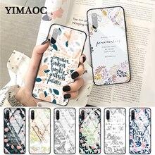 YIMAOC Bible verse Philippians Jesus Glass Case for Xiaomi Redmi 4X 6A note 5 6 7 Pro Mi 8 9 Lite A1 A2 F1
