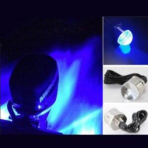 Image 1 - Lampe submersible en acier inoxydable décoration lumineuse LED, idéal pour la pêche dun bateau, idéal pour la nuit, rouge/bleu/vert, 12V, 10W