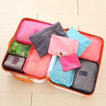 Нейлон Упаковка куб путешествия косметичка Водонепроницаемый шесть штук Коллекция костюм чемодан сумка Костюмы сумки оптом Cubo