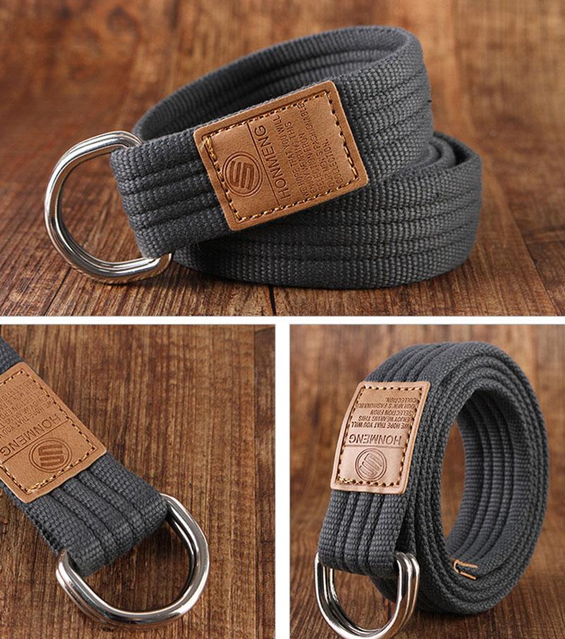 865a363b7677 Meilleur YBT ceinture en toile Unisexe Double anneau boucle de ...