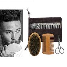 Scissor-Set Trim-Accessory-Tool Shaving-Brush-Comb Beard-Shaping-Kit Hair-Removal Hair-Styling-Face