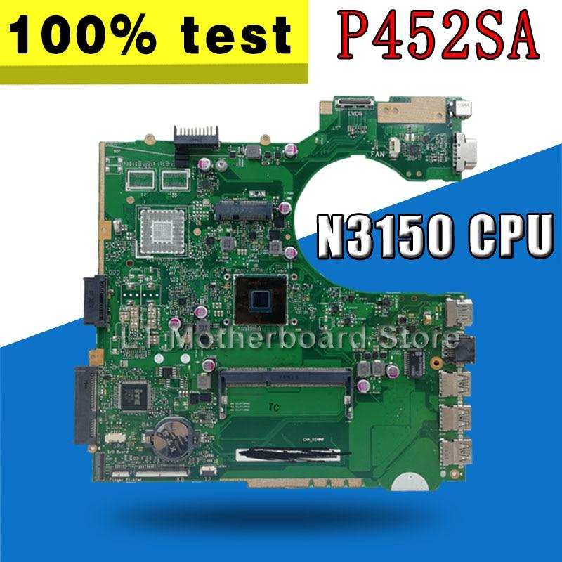P452SA MB._N3150 CPU  P452SA Laptop Motherboard For Asus P452S P452SJ P452SA Mainboard 90NX0080-R00020 100% Teste OKP452SA MB._N3150 CPU  P452SA Laptop Motherboard For Asus P452S P452SJ P452SA Mainboard 90NX0080-R00020 100% Teste OK