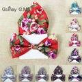 Floral Impreso Hombres Pajarita y Pañuelo de Bolsillo Juegos para Parte Ocasional Adulto Ajustable 100% de Poliéster corbatas de Pajarita y Pañuelo