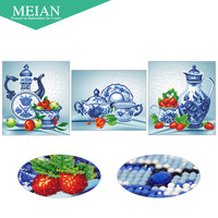 Meian Special Shaped Diamond Embroidery Friut China 5D Diamond Painting Cross Stitch 3D Diamond Mosaic Decoration