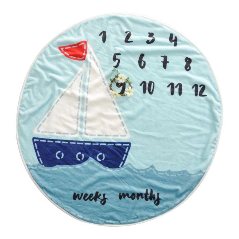 Baby Blanket Photography Flannel Cartoon Round Soft Sleep Cute Decoration Children Kids Props Comfortable Newborn Supplies