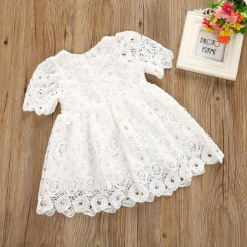 Beautiful Baby Girl Floral Short Sleeve Princess Formal Dress
