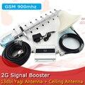 Display LCD GSM 900 Mhz Amplificador de Señal de Teléfono Móvil 2G GSM Repetidor de señal de Teléfono Celular Amplificador + Antena Yagi/Techo antena