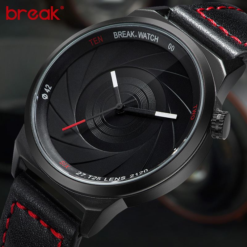 Break Brand New Original Design Photographer Series Unico uomo donna Sport unisex semplice al quarzo moda creativa orologi casual