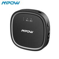 Mpow Bluetooth 5,0 аудио приемник передатчик 2 в 1 APTX HD APTX низкая задержка 3,5 мм аудио адаптер для наушники для телевизора ПК динамик