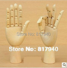 Wooden Articulated Hand mannequin Left & Right Set, wooden hand model,model artist,wooden sculpture
