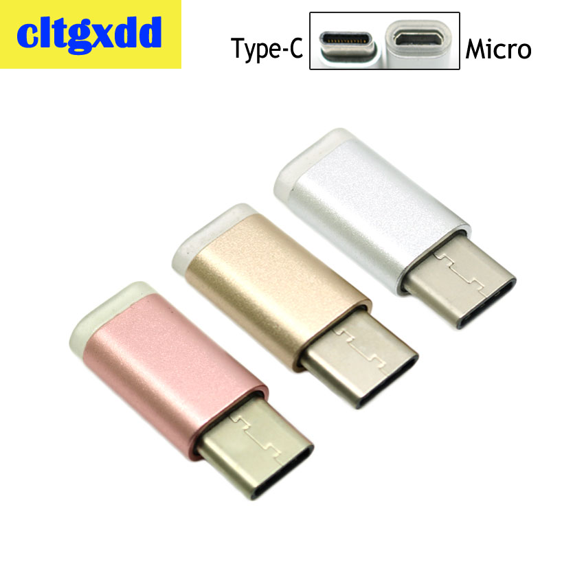 Cltgxdd 2pcs Micro USB 2.0 Female Connector To Type-C Male Converter Data Adapter High Speed Android Cell Phone Charging Head