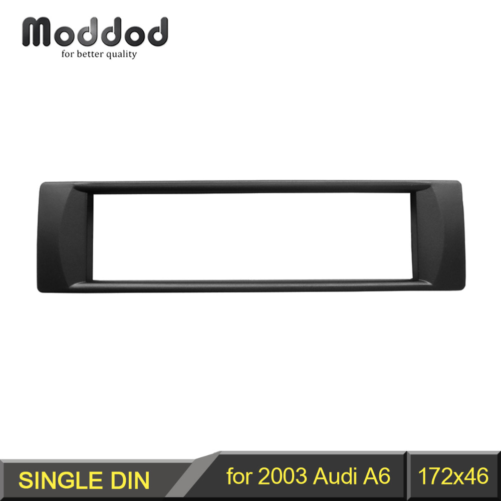 1 Din Audio Frame for 2003 Audi A6 DVD Refitting Fascia Trim Kit Installation Mount Facia Plate Bezel image