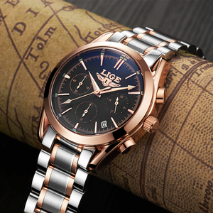 Image 4 - Watches Men LIGE Brand Full Steel Military Watches Mens Quartz Clock Men Business Watch Sport Waterproof WristWatch Man Relojes