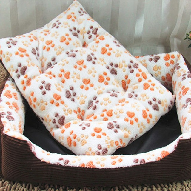 Plus Size Large Dog Cat Bed Mat Kennel Soft Pet Puppy Warm Plush Cozy Nest  House Pad Claws Printed Pattern