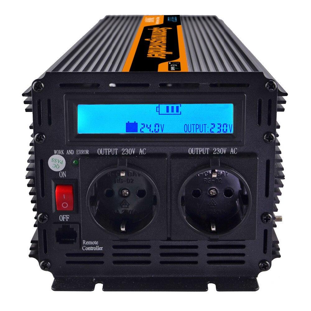 3000W Inverter 24V to 230V/220V Car Power Inverter LCD Display, Full power