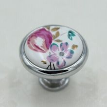 32mm Moda Moderna cerâmica gaveta do armário móveis handle knob prata knob pastorale porcelana dresser armário porta pull knob