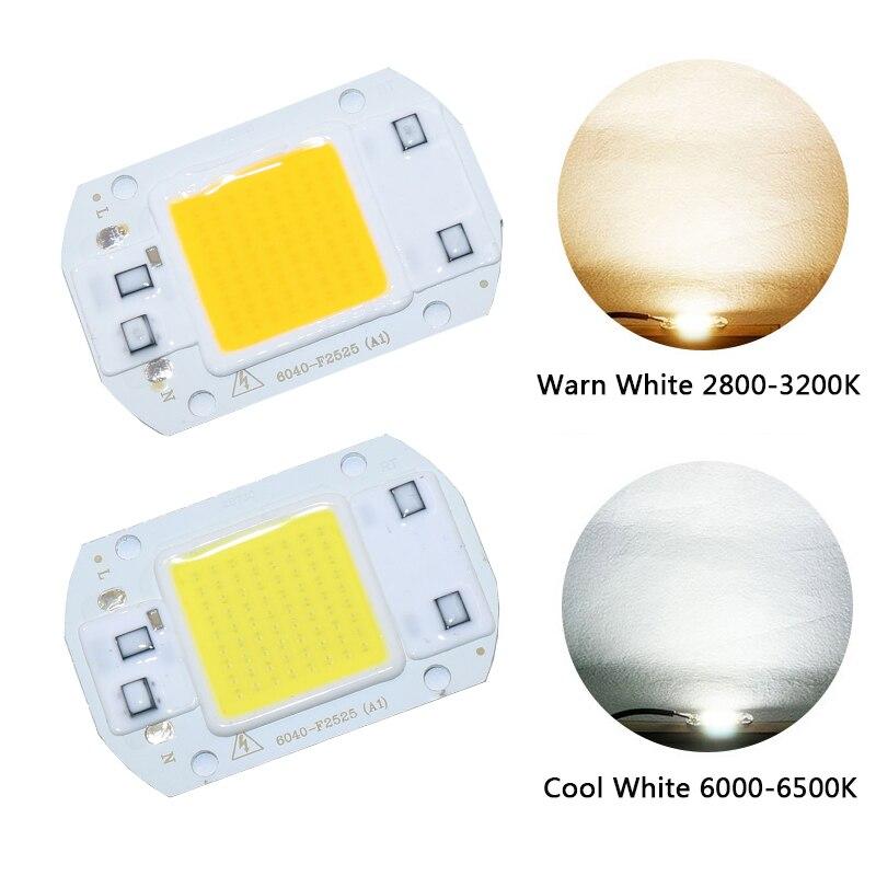 Smart IC High Power LED Matrix For Projectors 20W 30W 50W 110V 220V DIY Flood Light COB LED Diode Spotlight Outdoor Chip Lamp in LED Bulbs Tubes from Lights Lighting