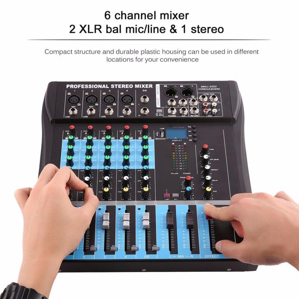 Ulme 4 Kanal Digital Sound Mixer Mit Usb Bluetooth 48 V Power Mischen Konsole Lcd Display Digitale Effekte Für Audio Dj Karaoke Professionelle Audiogeräte