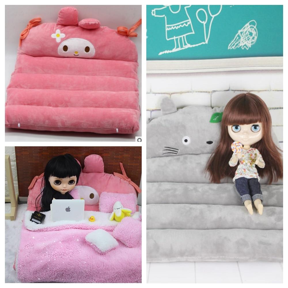 1PCS Blyth Dolls Bed Assorted Color Soft Bed For Blyth Licca Kurhn Barbis 1/6 BJD Dolls Accessories Bed For Dolls