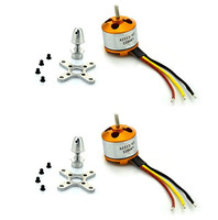 2pcs New A2212 2200KV Brushless Outrunner Motor W Mount 6T For RC Aircraft Copter Airplane Electric