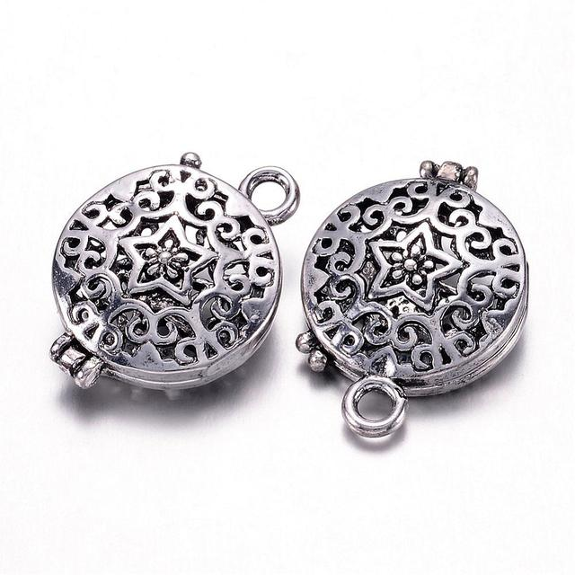 100pcs Brass Diffuser Locket Pendants, Photo Frame Charms for ...