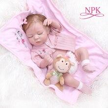 NPK 48 CM neugeborenen bebe realistische reborn weiche volle körper slicone lebensechte schlafen baby Anatomisch Richtige