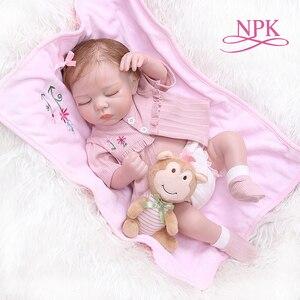 Image 1 - NPK 48 CM nouveau né bebe réaliste reborn doux corps entier silicone réaliste sommeil bébé anatomiquement Correct