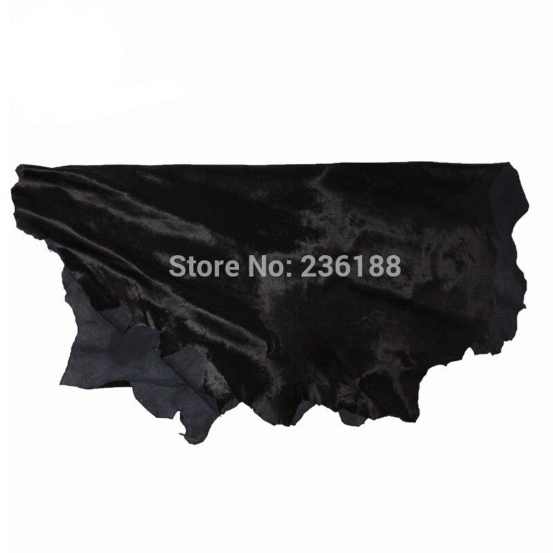 Weiche schwarze echte Kalb-Haar-Leder-Haut für Kissen / - Kunst, Handwerk und Nähen - Foto 1