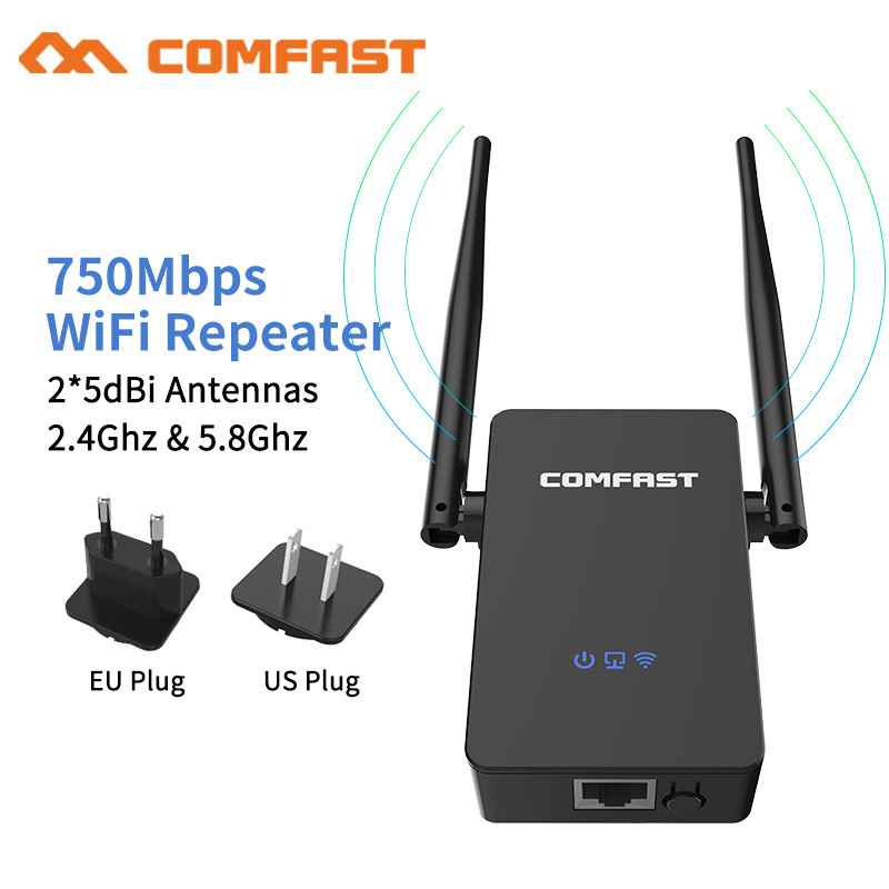 Comfast CF-WR750 V2 Wifi Router 750 Mbps 802.11 AC Dual Band 2.4+5.8Ghz WIFI Roteador Wifi Router Wi Fi Signal Repeater Extender