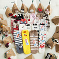 Novo 2017 Presente de Natal Mulheres meias Inverno Quente Ocasional das senhoras De Veludo Animal Bonito Xmas Meias Femininas meias Térmicas Piso casa