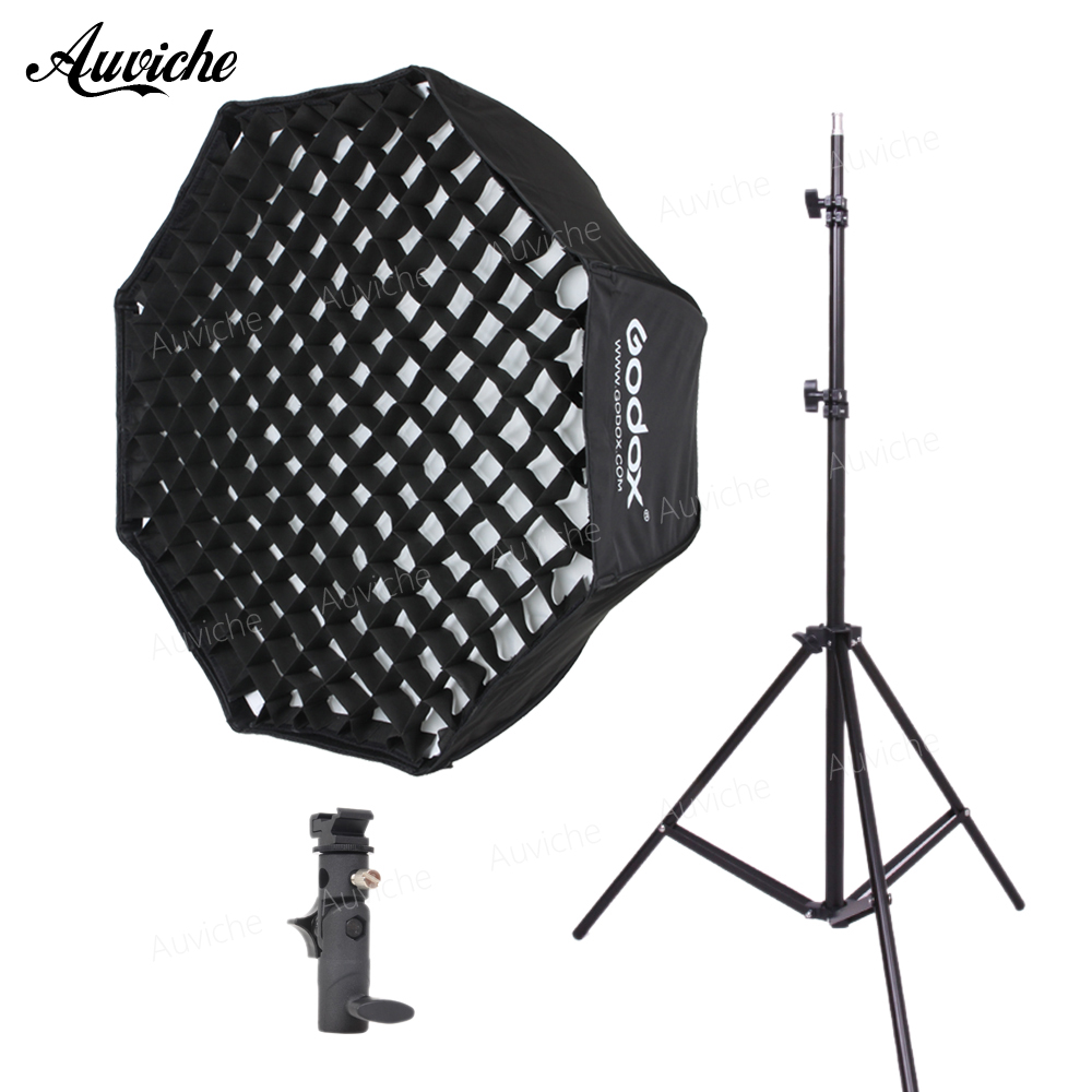 цена GODOX 80cm Speedlight Flash Octagon Honeycomb Grid Umbrella softbox for Speedlight Flash Studio flash