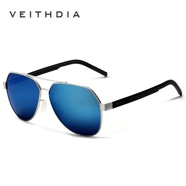 Veithdia gafas de sol de aluminio y magnesio polarizadas con revestimiento  azul espejo para conducir gafas f2c6a8ac89dd