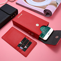 Moda crossbody de cuero bolso monedero case para iphone 6 6 s plus 7 plus 5S so para samsung galaxy s5 s6 edge plus s7 s8 xiaomi c