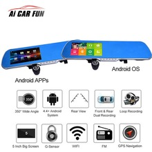 Big sale 5.0″ Touch Screen 1080P HD Universal Car Rearview Mirror DVR Dual Lens Camera Android GPS Navigation WiFi + Map