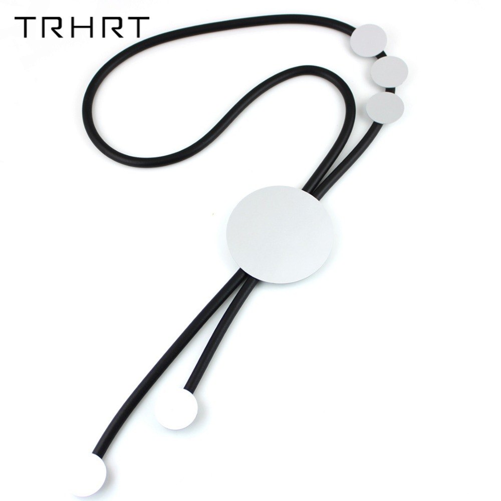 TRHRT Simple vintage round shape Choker Necklace Korean Style Hollow rope Velvet Collar leather Necklace For Women Jewelry gift gothic style hollow out beads necklace for women
