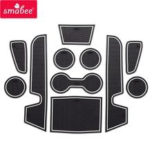 smabee Gate slot Mats For toyota 2019 COROLLA AURIS Non-slip  Interior Door Pad/Cup mats