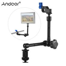 Adjustable Articulating Friction Arm with 15mm Rod Clamp Mount for Field Monitor LED Light Flash Microphone Camera Cage Rig