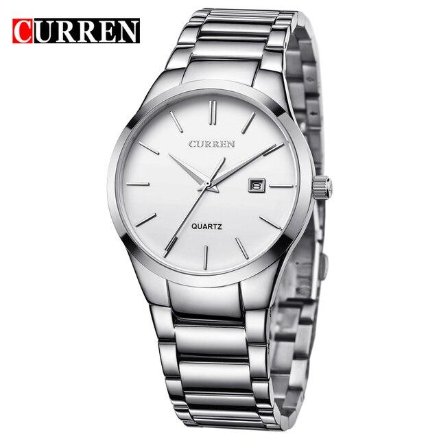 Curren Элитный бренд моды для мужчин бизнес календарьчасы мужчин водонепроницаемость кварцевые часы 8106