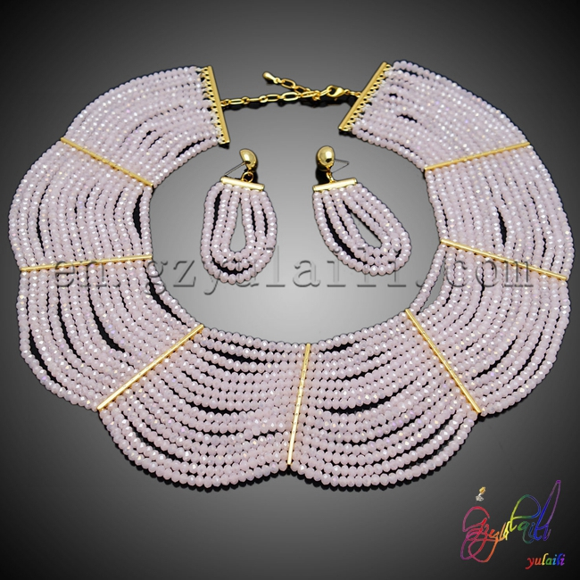 Free Shipping Yulaili Artificial Crystal Jewelry Set Costume & Fashion Jewelry Set L Bridal Two Beaded Jewelry Set free shipping yulaili artificial precious stone factory unique design women costume beaded jewelry set