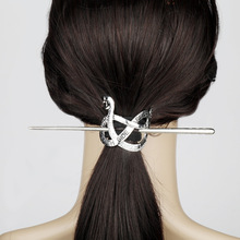 American Drama Riverdale River Valley Town Serpentine Retro Hairpin Metal Bow female Gift hair jewelry