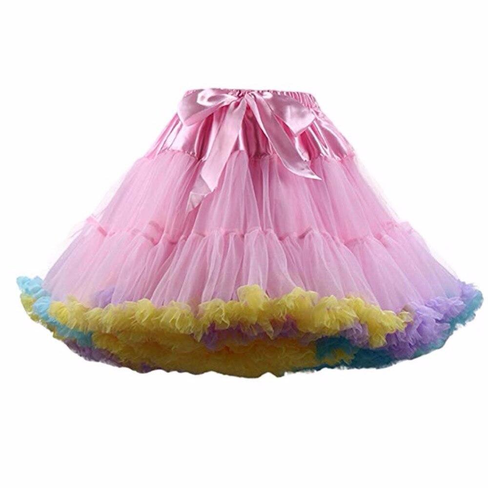 FOLOBE Dámské Dívky Tutu Sukně Kostým Balet Taneční oděvy Sukně Vícevrstvé Puffy Sukně Luxusní Petticoat Spodní prádlo TT004