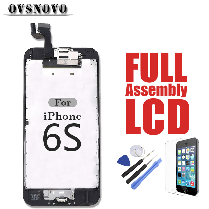LCD Full Digitizer Assembly For iPhone 6s LCDs Complete Sets Touch Screen Replacement Parts Panel Front Camera Home Button Glass image