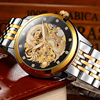 2017 Business Mechanical Watches Mens Skeleton Tourbillon Automatic Watch Men Gold Stainless Steel Waterproof Relojes Hombre