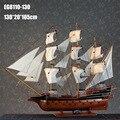 """1 pcs manual de 50 """"gigante de madeira modelo barco à vela para a decoração e coleção na caixa de madeira via EMS grátis."""
