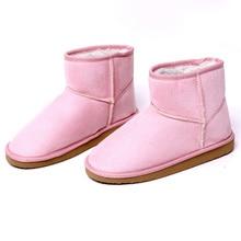 7 farben Frauen Stiefel Kalb kniehohen Faux Flache Plateauschuhe Warme Winter Schnee Stiefel Wildleder Winter Heißer Ankle stiefel
