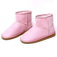 3 Colors Women Boots Calf Knee High Faux Flat Platform Shoes Warm Winter Snow Boots Suede