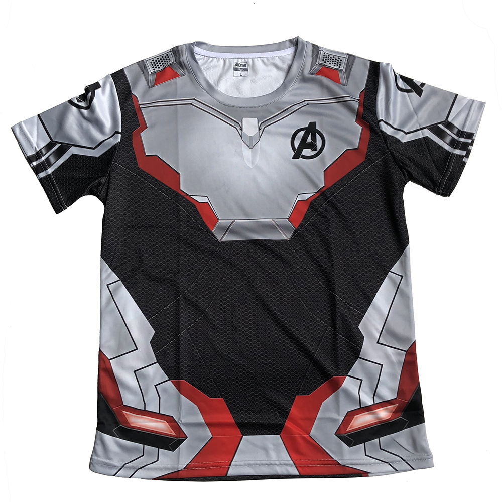 3D Avengers Endgame Realm Cosplay T-shirt Iron Man Captain Marvel Captain America Black Widow Costume Sport Tight Tees Dropship3